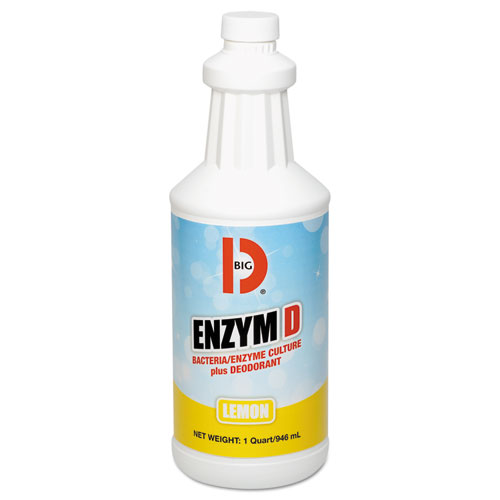 Big D Industries Enzym D Digester Liquid Deodorant, Lemon, 1gal, 4/Carton