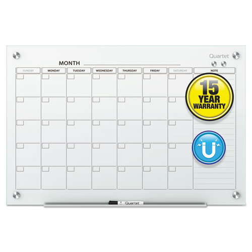 Office Calendar Board : Qrtgc f quartet infinity magnetic glass calendar board