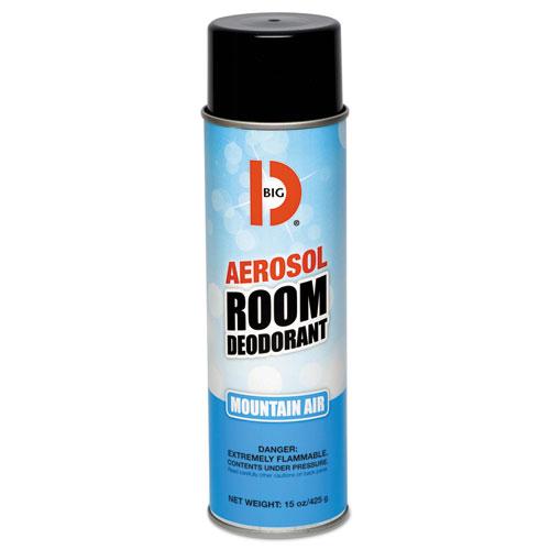 Aerosol Room Deodorant, Mountain Air Scent, 15 oz Can, 12/Box