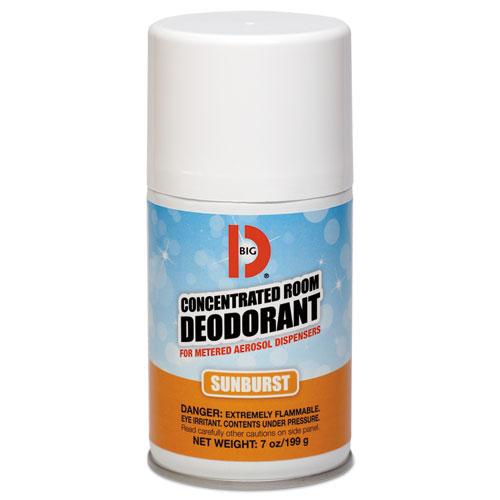 Metered Concentrated Room Deodorant, Sunburst Scent, 7 oz Aerosol, 12/Carton