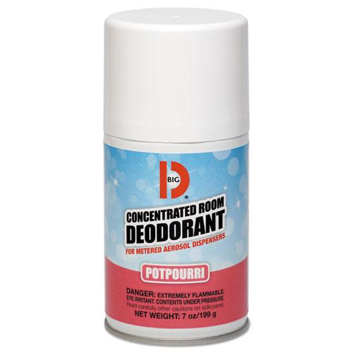 Metered Concentrated Room Deodorant, Potpourri Scent, 7 oz Aerosol, 12/Carton
