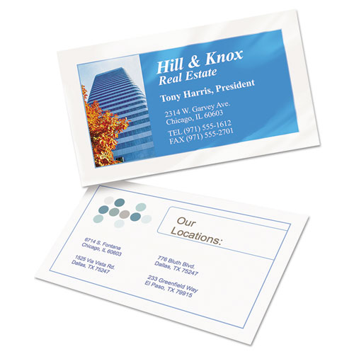 Clean Edge Business Cards, Inkjet, 2 X 3 1/2, Glossy White