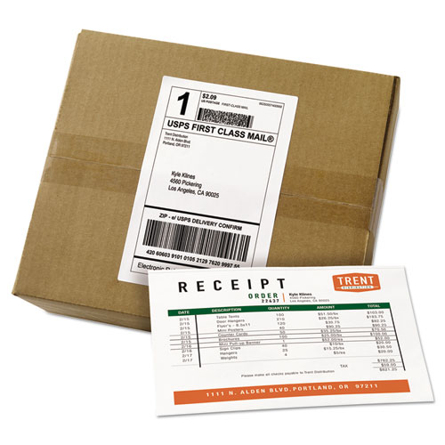shipping label paper Hi sellers, i've noticed that a lot of e-commerce businesses use adhesive shipping labels why do merchants use these labels instead of printing the label on printer paper and covering the label with tape.