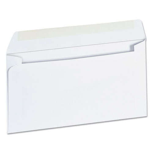 Business Envelope, 6 3/4, Square Flap, Gummed Closure, 3.63 x 6.5, White, 500/Box