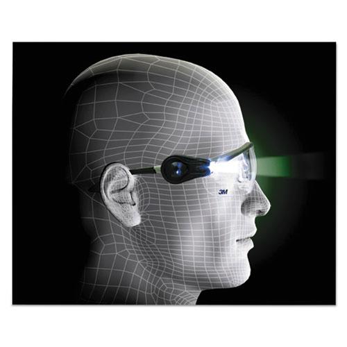 3m lightvision safety glasses w led lights clear antifog. Black Bedroom Furniture Sets. Home Design Ideas