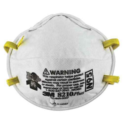 3M™ Particulate Respirator 8210Plus, N95, 20/Box