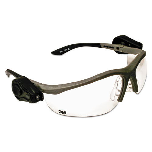 3m lightvision safety glasses w led lights clear antifog. Black Bedroom Furniture Sets. Home Design Ideas