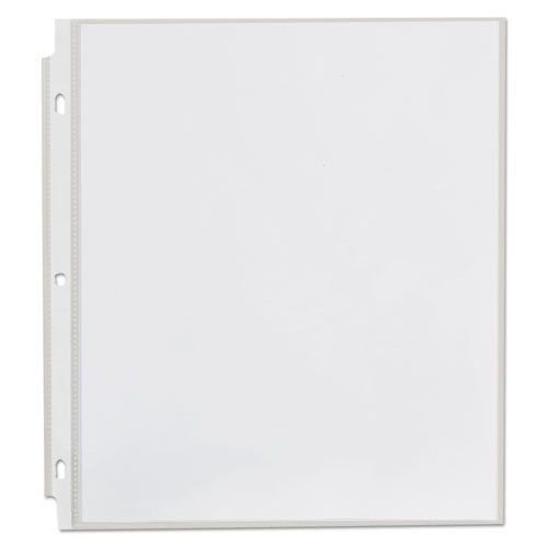 Top-Load Poly Sheet Protectors, Heavy Gauge, Nonglare, Clear 50/Pack