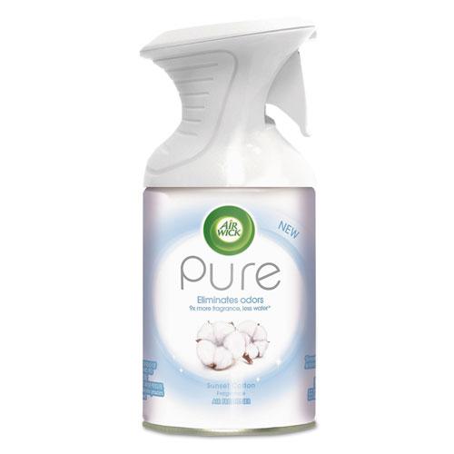 Air Wick® Pure Premium Air Freshener, Sunset Cotton, 5.5 oz Aerosol, 6/Carton