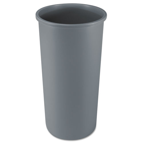 Rubbermaid® Commercial Untouchable Waste Container, Round, Plastic, 11 gal, Gray
