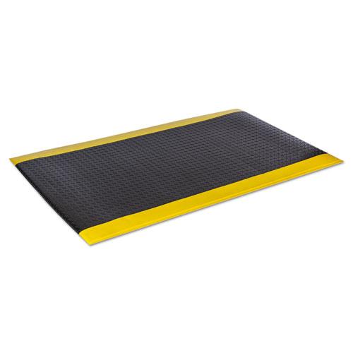 Wear-Bond Comfort-King Anti-Fatigue Mat, Diamond Emboss, 24 x 36, Black/Yellow