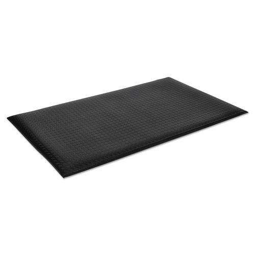 Wear-Bond Comfort-King Anti-Fatigue Mat, Diamond Emboss, 36 x 60, Black