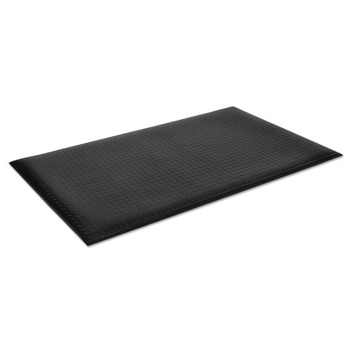 Wear-Bond Comfort-King Anti-Fatigue Mat, Diamond Emboss, 24 x 36, Black