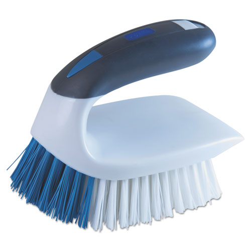 2-in-1 Iron Handle Brush, 2 Bristles, 3 Handle, White