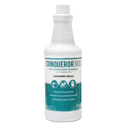 Fresh Products Bio-C 105 Odor Counteractant Concentrate, Cucumber Melon, 1qt Bottle,12/Ctn