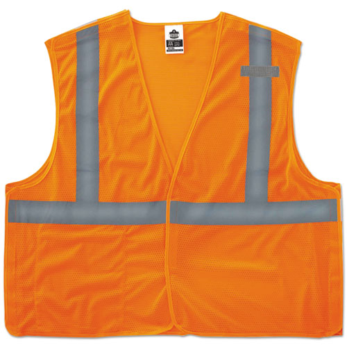 GloWear 8215BA Type R Class 2 Econo Breakaway Mesh Vest, Orange, S/M | by Plexsupply
