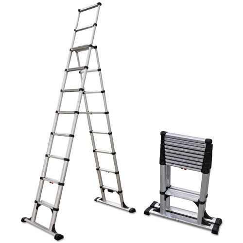 14 Ft Aluminum Ladders : Telescopic a frame ladder ft lb step aluminum