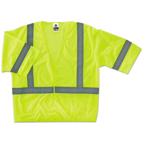 GloWear 8310HL Type R Class 3 Economy Mesh Vest, Lime, L/XL | by Plexsupply
