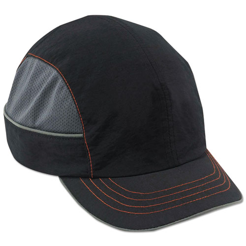 Skullerz 8950 Bump Cap, Short Brim, Black