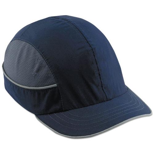 Skullerz 8950 Bump Cap, Short Brim, Navy