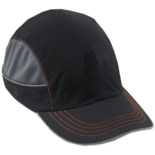 Skullerz 8950 Bump Cap, Long Brim, Black