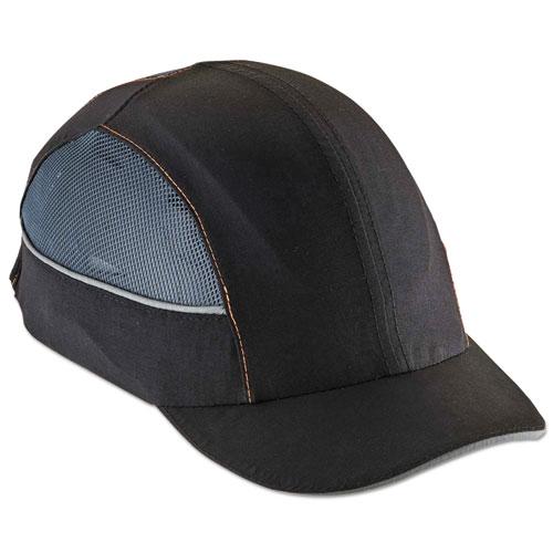 Skullerz 8960 Bump Cap w/LED Lighting Technology, Short Brim, Black