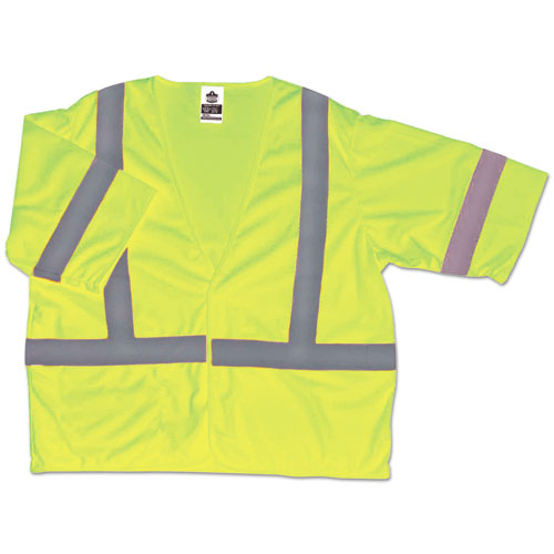 GloWear 8310HL Type R Class 3 Economy Mesh Vest, Orange, S/M | by Plexsupply