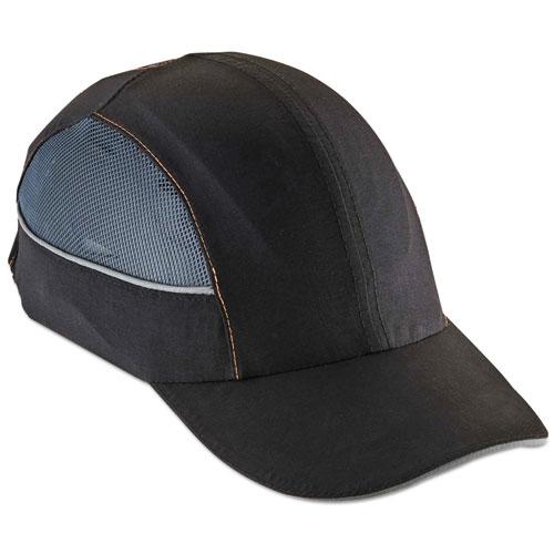 Skullerz 8960 Bump Cap w/LED Lighting Technology, Long Brim, Black