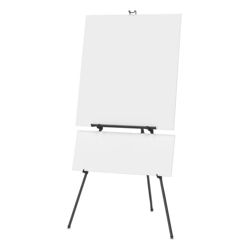 "Aluminum Heavy-Duty Display Easel, 38"" to 66"" High, Aluminum, Black 