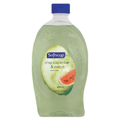 Softsoap® Liquid Hand Soap Refill, Crisp Cucumber & Melon, 32 oz Bottle, 6/Carton