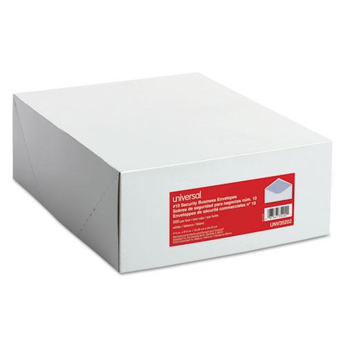Business Envelope, #10, Commercial Flap, Gummed Closure, 4.13 x 9.5, White, 500/Box