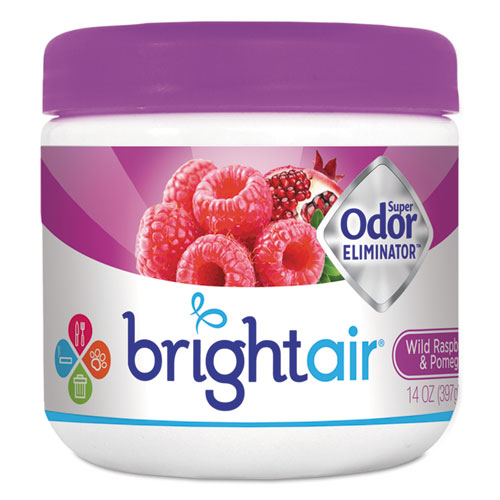 BRIGHT Air® Super Odor Eliminator, Wild Raspberry & Pomegranate, 14 oz Jar