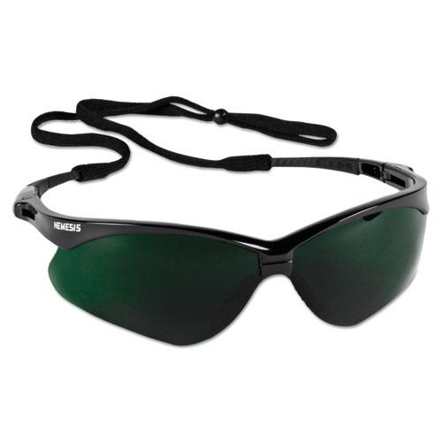 Jackson Safety* V30 Nemesis Safety Eyewear, Black Frame/IRUV 5 Lens, Nylon/Polycarb