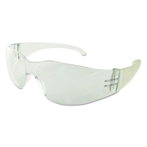 Safety Glasses, Clear Frame/Clear Lens, Polycarbonate, Dozen