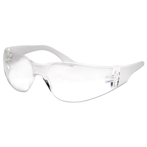 Safety Glasses, Clear Frame/Clear Lens, Anti-Fog, Polycarbonate, Dozen