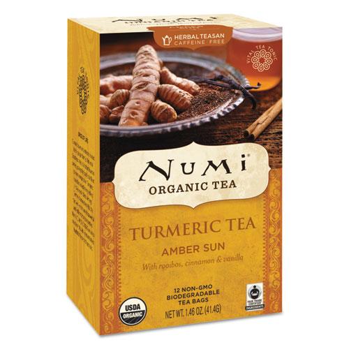 Turmeric Tea, Amber Sun, 1.46 oz Bag, 12/Box