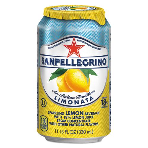 Sparkling Fruit Beverages, Limonata (Lemon), 11.15 oz Can, 12/Carton