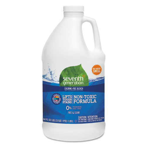 Seventh Generation® Chlorine-Free Bleach, Unscented, 64 oz Bottle, 6/Carton