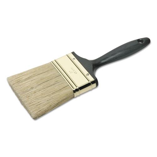 8020015964248 SKILCRAFT 3 Flat Sash Paint Brush, Natural Bristle, Black Plastic Handle