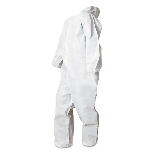 Disposable Coveralls, White, X-Large, Polypropylene, 25/Carton