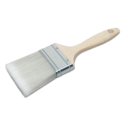 8020015964245 SKILCRAFT 3 Flat Sash Paint Brush, Polyester, Hardwood Handle