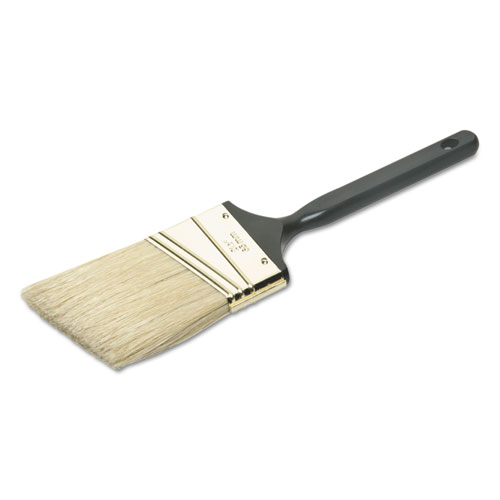 8020015964254 SKILCRAFT 2 1/2 Angled Paint Brush, Natural Bristle, Black Plastic Handle