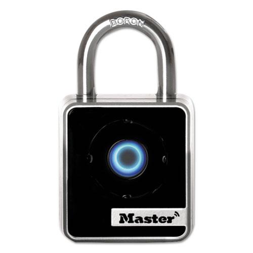 4400D Bluetooth Padlock, Indoor, Black/Silver, 1 29/32 Width