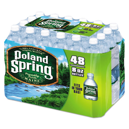 Poland Spring® Natural Spring Water, 8 oz Bottle, 48 Bottles/Carton