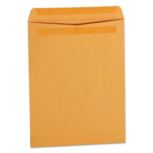 Universal® Self-Stick Open-End Catalog Envelope, #13 1/2, Square Flap, Self-Adhesive Closure, 10 x 13, Brown Kraft, 250/Box