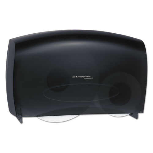 Cored JRT Jumbo Combo Tissue Dispenser, 20 2/5w x 5 4/5d x 13 1/10h, Smoke/Gray