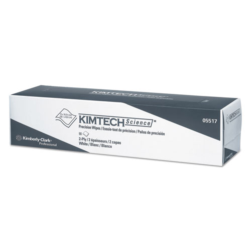 Precision Wipers, POP-UP Box, 2-Ply, 14.7 x 16.6, White, 90/Box