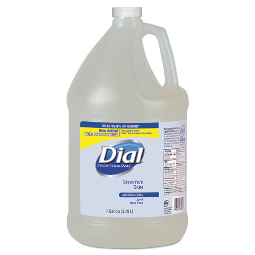 Dial® Professional Antimicrobial Soap for Sensitive Skin, Floral, 1gal Bottle, 4/Carton