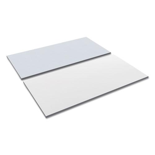 Reversible Laminate Table Top, Rectangular, 59 3/8w x 29 1/2d, White/Gray