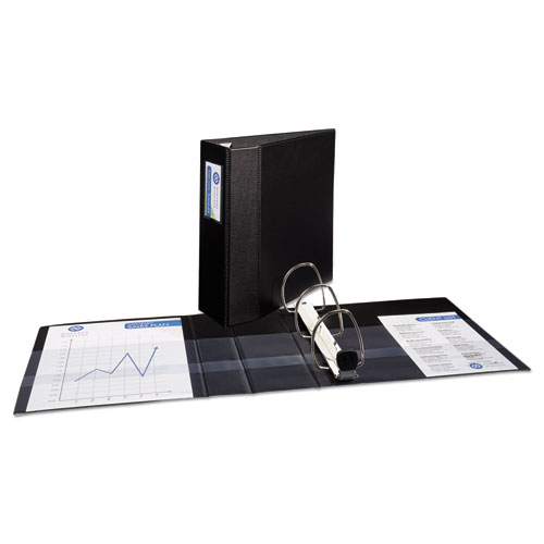 heavy duty binder with one touch ezd rings 11 x 8 1 2 4 capacity